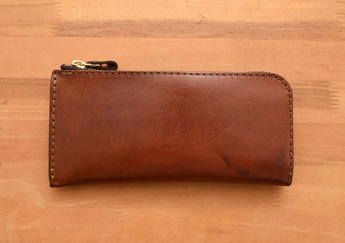 L字ファスナー長財布(WL-3) エイジングのチョコ