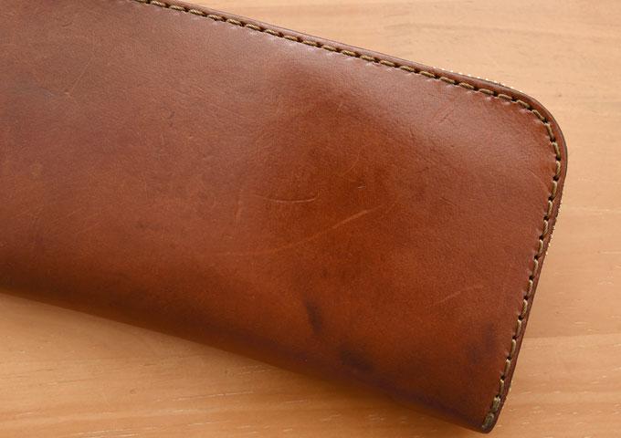 L字ファスナー長財布(WL-3) エイジングチェック1