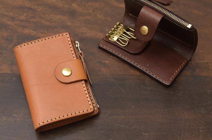 ミニ財布としても使えるキーケース 小銭入れ付きキーケース(KE-130)