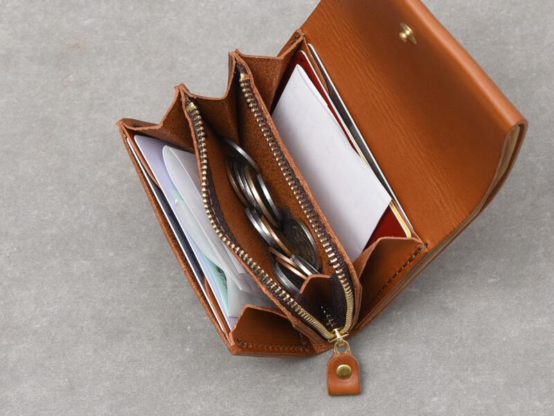 二つ折りミニ財布(GS-64) 収納イメージ