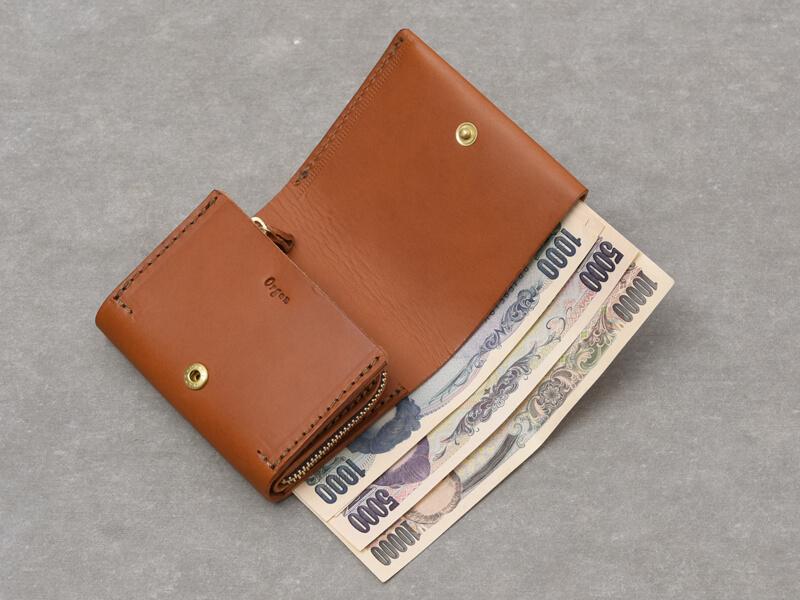 二つ折りミニ財布(GS-64) 紙幣収納