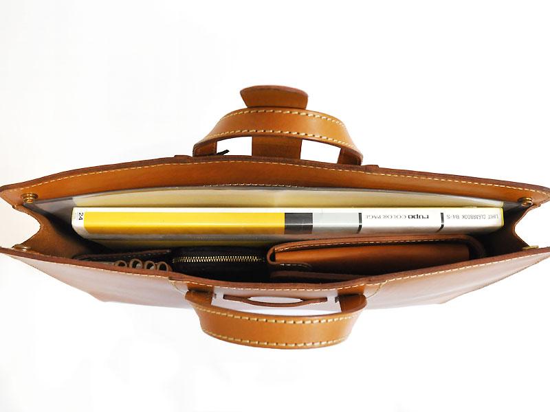 二本手薄マチビジネスバッグ(BW-101)収納例