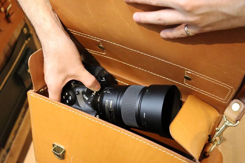 2wayカメラバッグ・箱型ハードケース(N-27) オープン