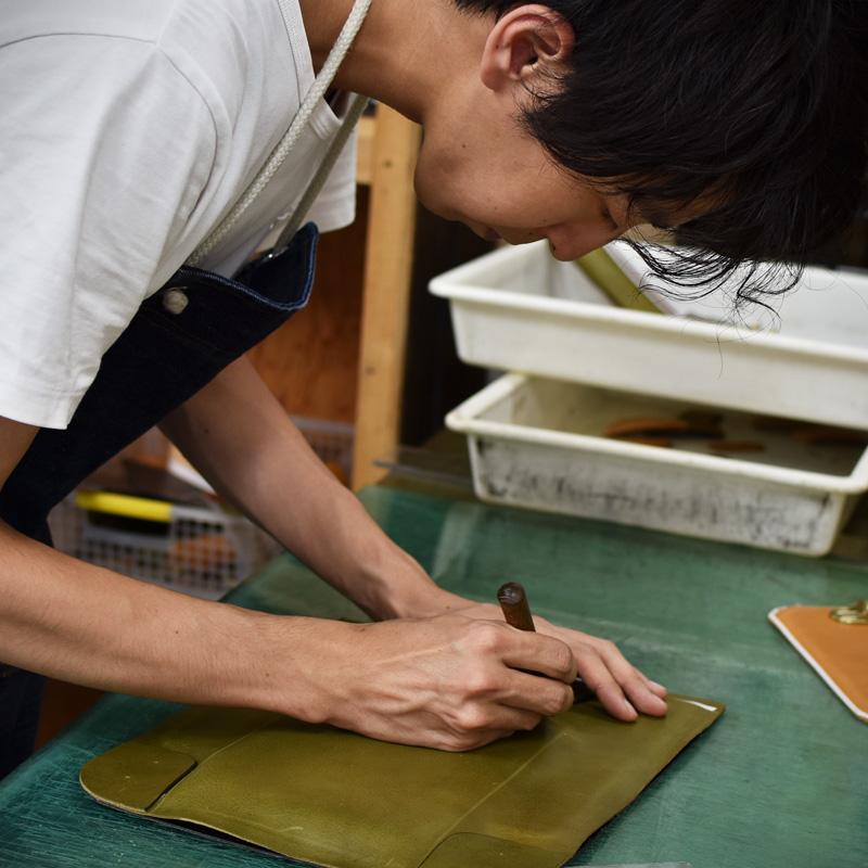 縦型ランドセル・玉縫い(R-51-A)を作る堀口