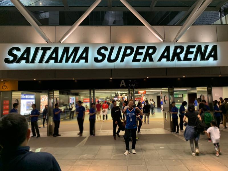 斎藤が実際に訪れたスポーツ観戦の会場その1