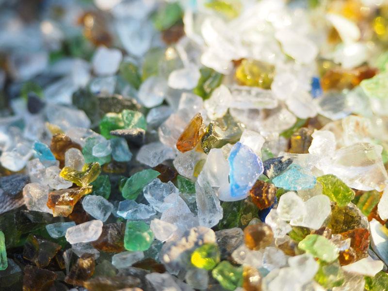 ガラスの砂浜