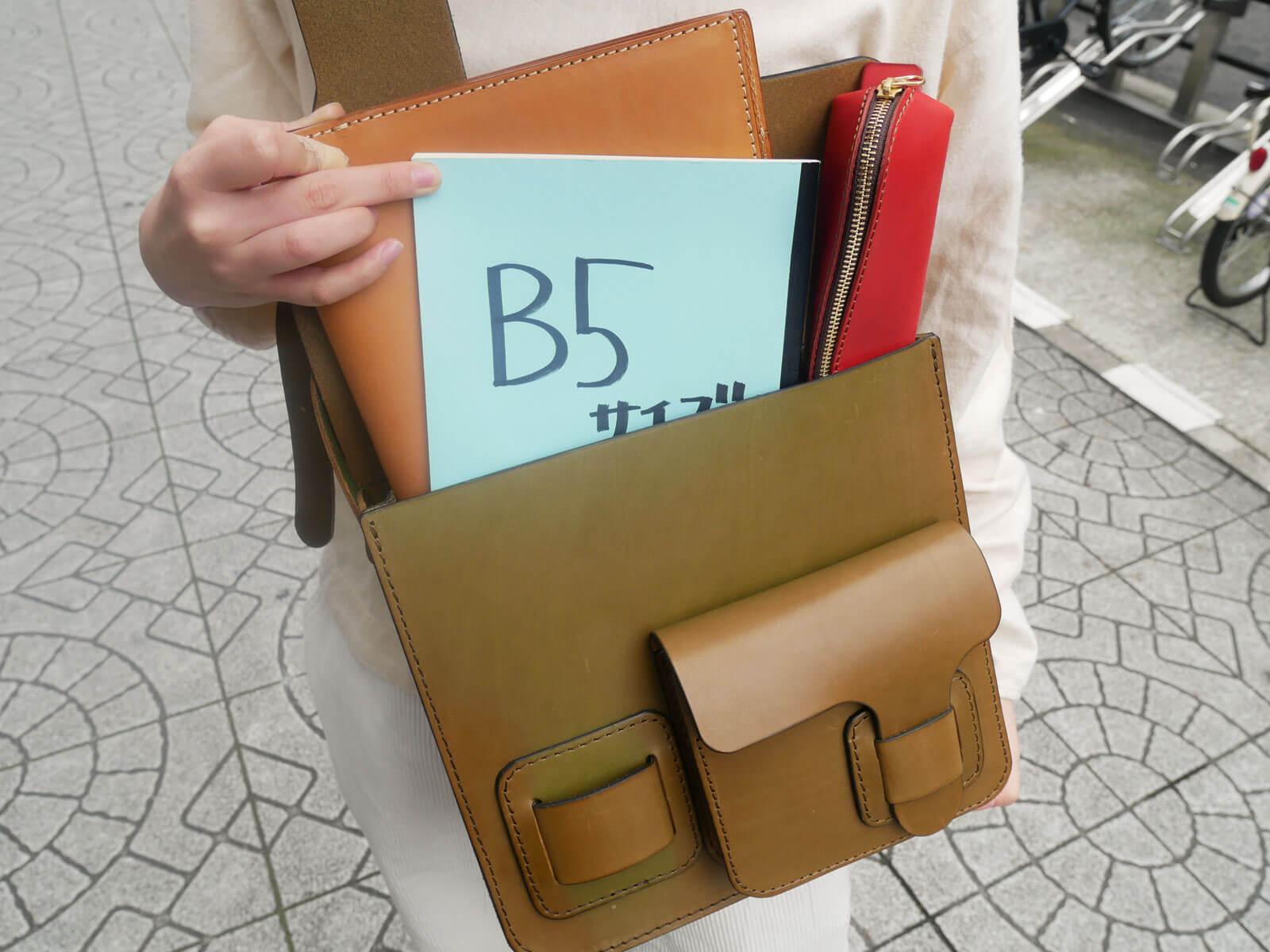 B5ノートは入ります