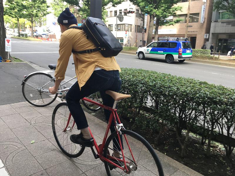 ベリッシモリュック(R-17) 自転車乗り