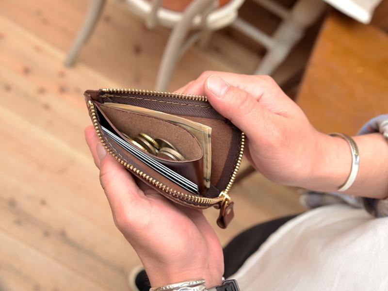 L字ファスナーミニ財布(KK-38)の収納例