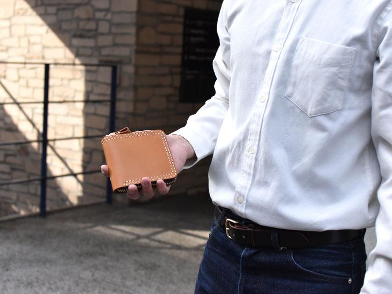 二つ折りファスナー財布(WS-40)
