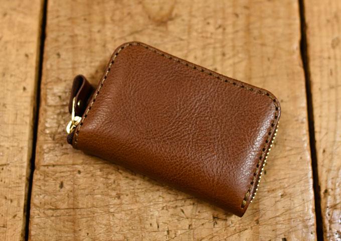コンパクト財布(KK-59) 新品の革色チョコ