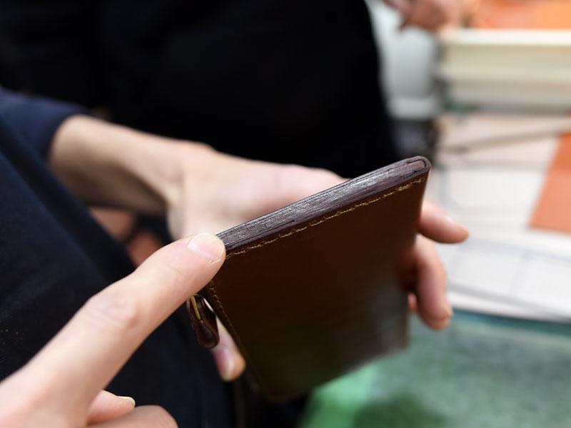 L字ファスナー長財布(WL-3)のコバ