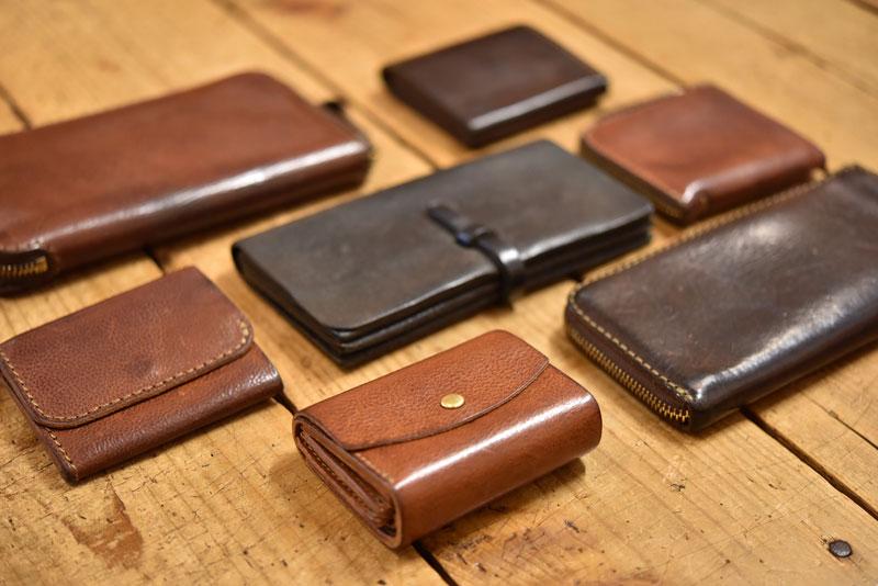 Organモデルのエイジング財布たち