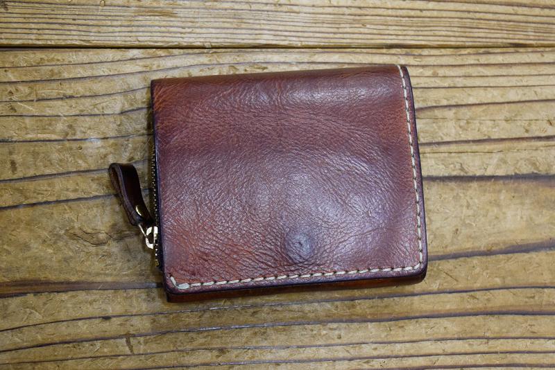 小型の二つ折り財布(WS-64) キャメルエイジング