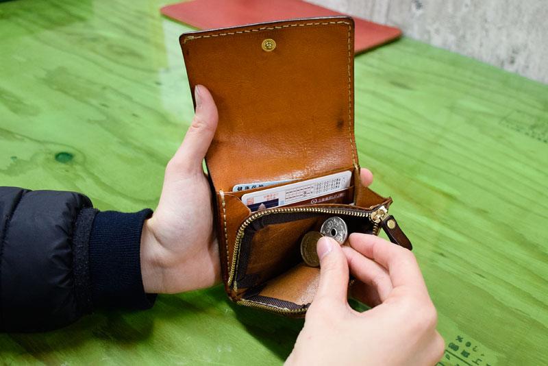 小型の二つ折り財布(WS-64) 使用レビュー
