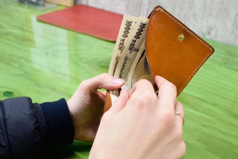 小型の二つ折り財布(WS-64) 使用レビュー2