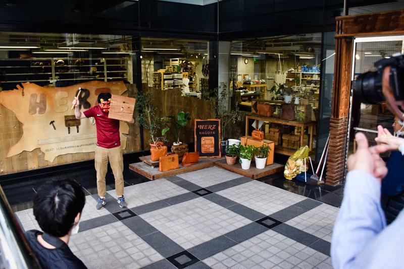 名古屋店節分の豆まき1