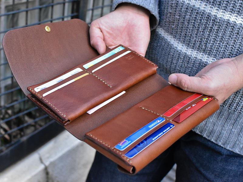 ダブルフラップ長財布(WL-2) 見開き