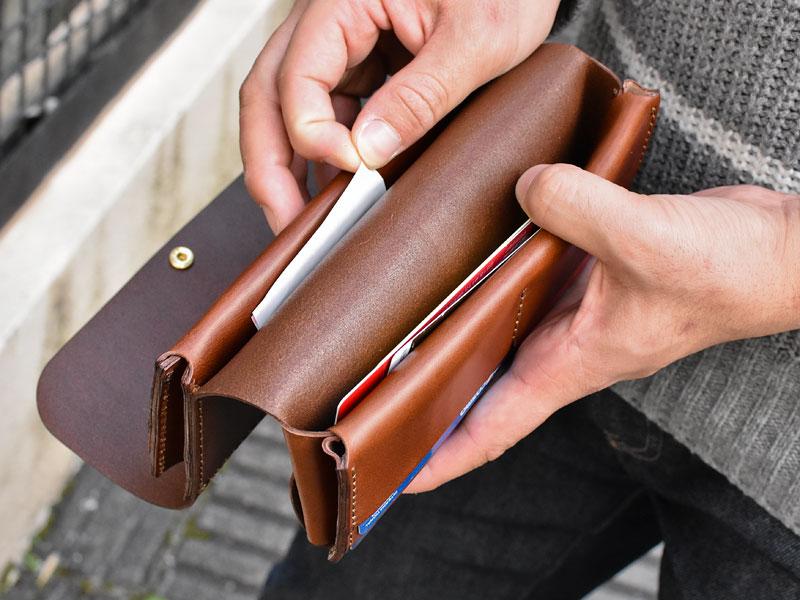 ダブルフラップ長財布(WL-2) カードポケット裏