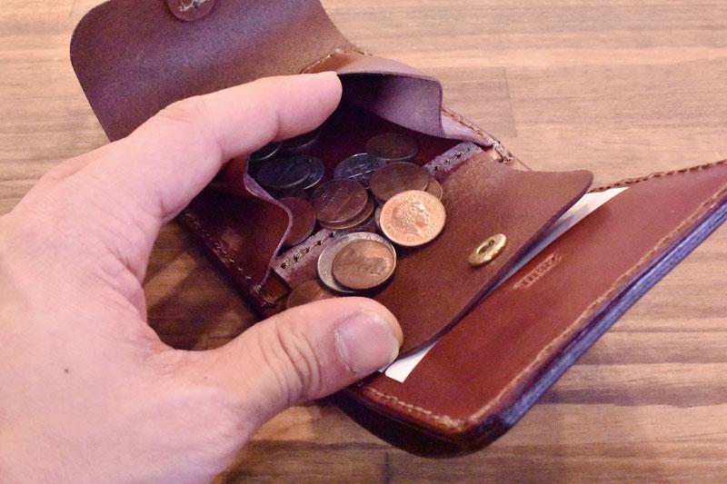 二つ折り財布・ギボシ留め(WS-57) 小銭入れ