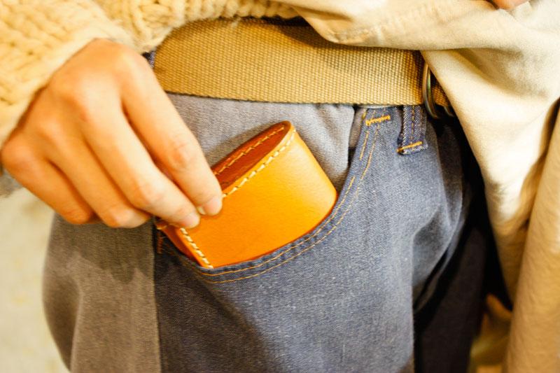 シンプル小銭入れ(KK-23) ポケット取り出し