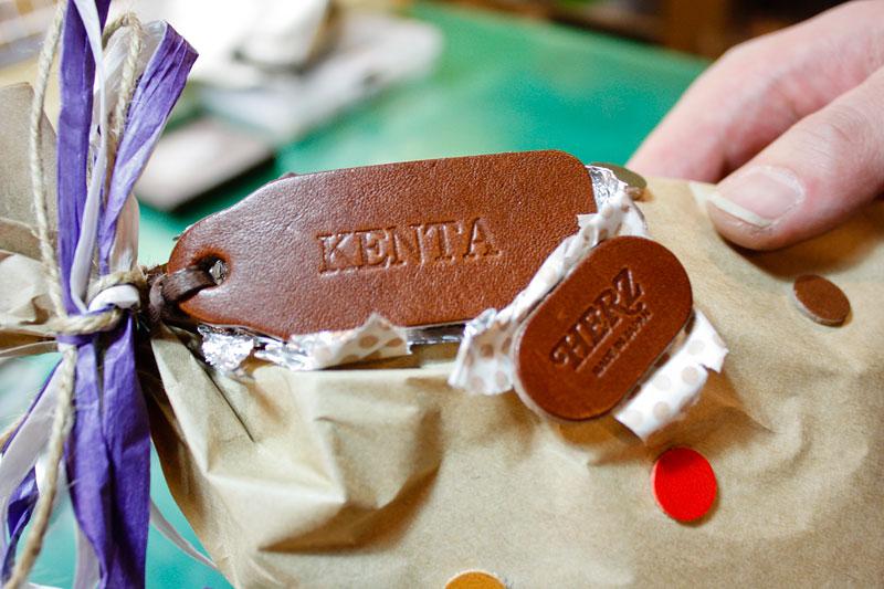 バレンタインのチョコタグ