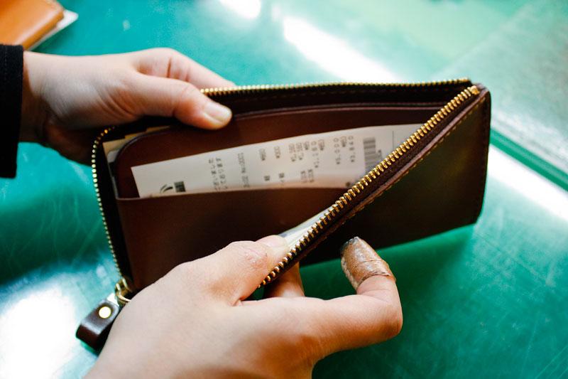 L字ファスナー長財布(WL-3) 使用例