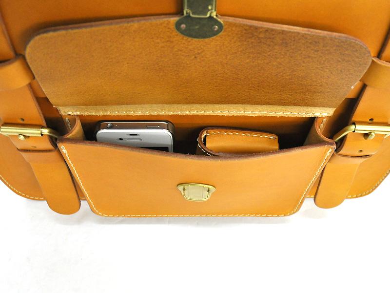 学生鞄風・2wayビジネスバッグ(BC-16) 前ポケット