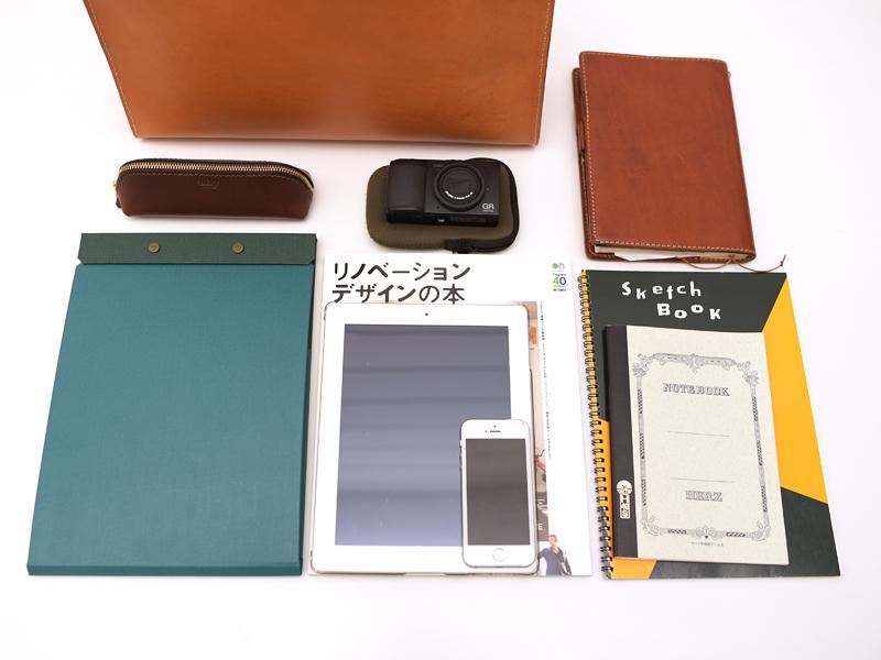あおりポケット二本手ビジネスバッグ(BW-104) Sサイズ収納例