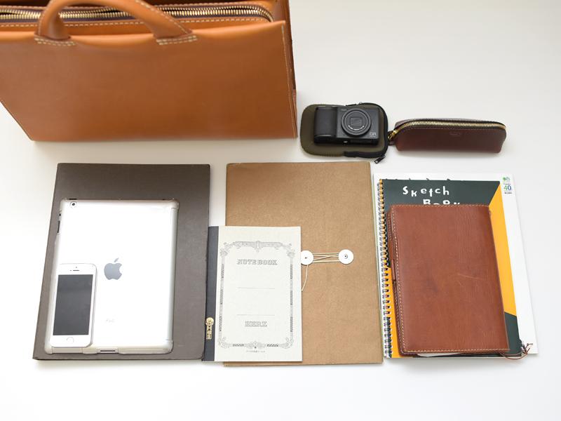 あおりポケット二本手ビジネスバッグ(BW-104) Mサイズ収納例