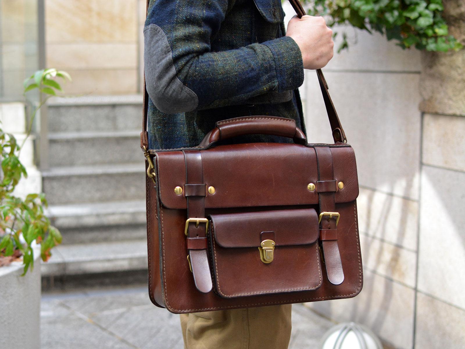 本店作り手:西川愛用「学生鞄風・2wayビジネスバッグ」