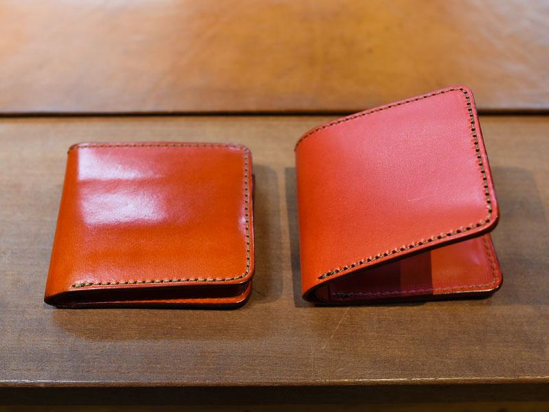 二つ折り財布(WS-3) レッドエイジング比較