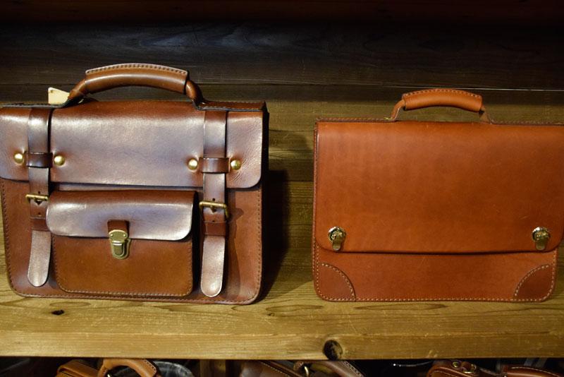 学生鞄風・2wayビジネスバッグ(BC-16) 革色チョコエイジング比較