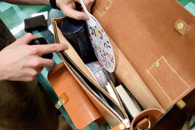 学生鞄風・2wayビジネスバッグ(BC-16) カップ麺収納2