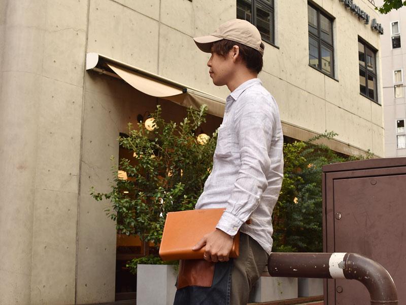 三角マチのセカンドバッグ(S-12)