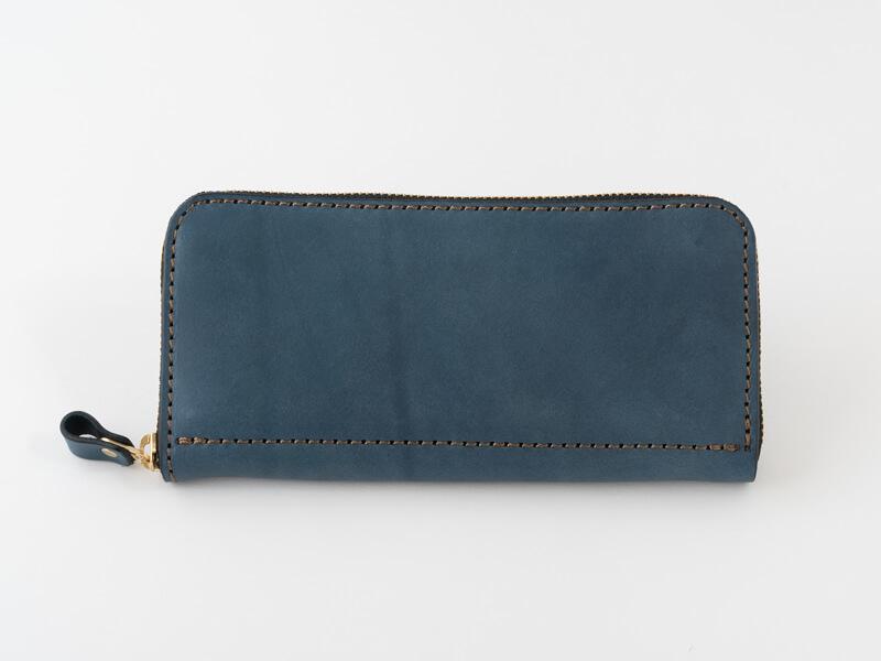 【デニムブルー特別仕様】ファスナー長財布(NSA-23)