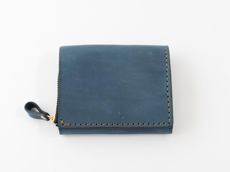 【デニムブルー特別仕様】小型の二つ折り財布(NSA-24)