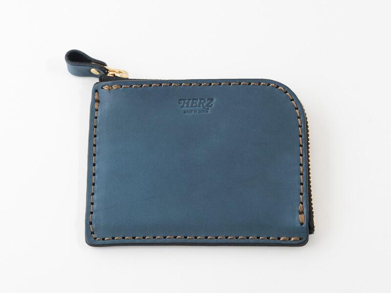 【デニムブルー特別仕様】L字ファスナーミニ財布(NSA-25)