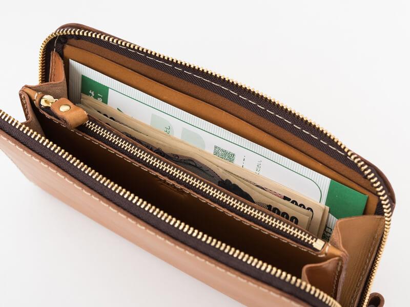 大きいファスナー長財布(WL-5) 紙幣収納