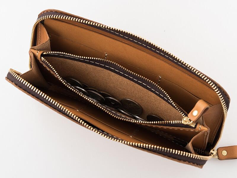 大きいファスナー長財布(WL-5) 小銭収納