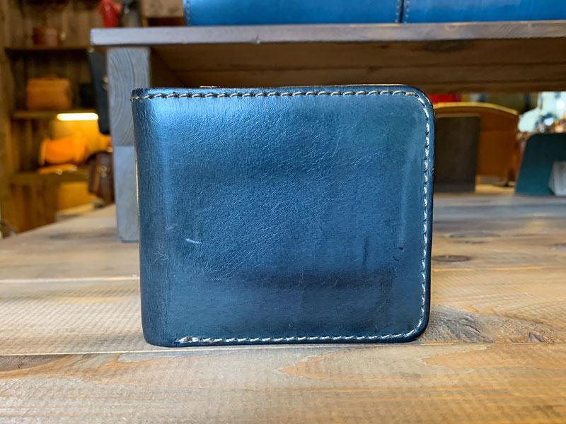デニムブルー 7ヶ月使用の財布1