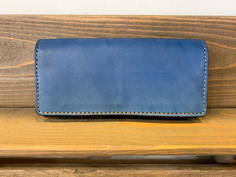 ソフトレザーの長財布(WL-63) デニムブルー