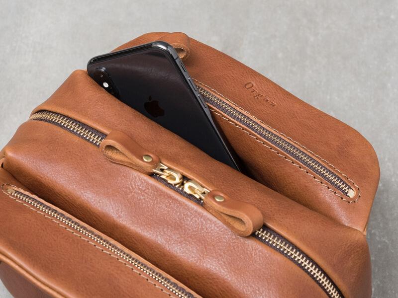 ファスナーハンドバッグ(G-83) ポケット