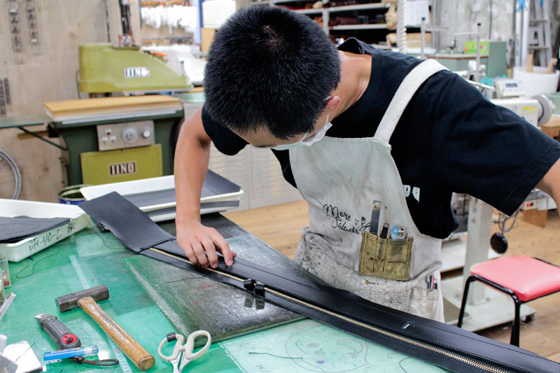 箱型鞄・2wayビジネスバッグ(BF-40) 鉄芯通し