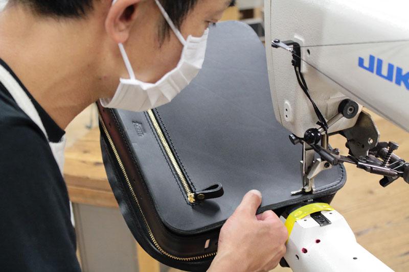 箱型鞄・2wayビジネスバッグ(BF-40) 盤面縫製