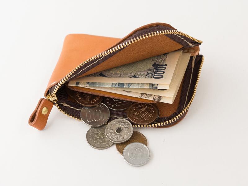 仕切り付きミニ財布(KK-2) 収納例1