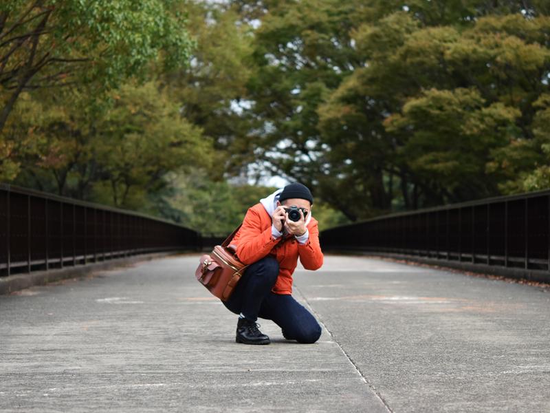 ハードギャジット・カメラバッグ(N-8)着用例1