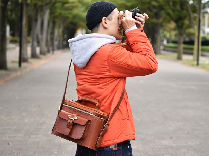 ハードギャジット・カメラバッグ(N-8)着用例4