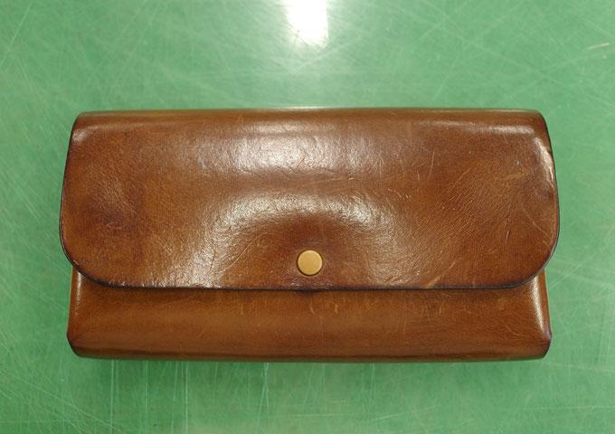 ダブルフラップ長財布(WL-2) エイジング1
