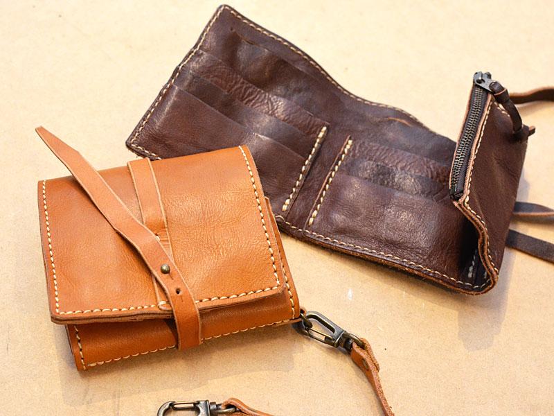 コード付き三つ折り財布(WH-302)